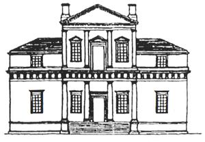 トーマス ・ ジェファーソンによるモンティセロの最初のかたち