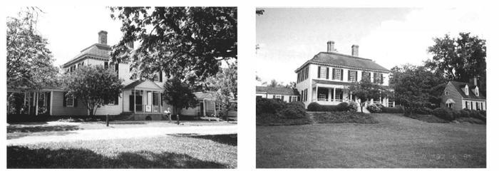 ウィリアムズパーグに建つ邸宅建築ネオクラシカル様式